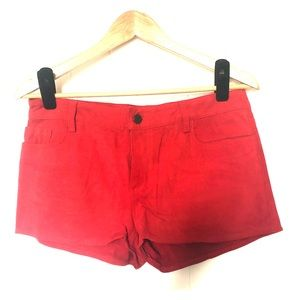 Joe's Jeans Red Suede Shorts